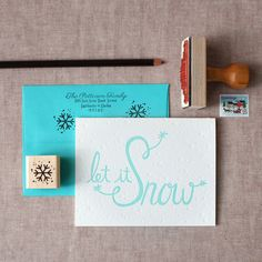 Let it Snow Holiday Stationery Set – the chatty press