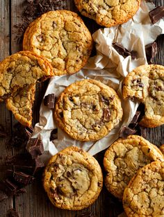 cake-stuff:  chocoholic chocolate chunk cookies click here for recipe  ..Click for more sweet desserts