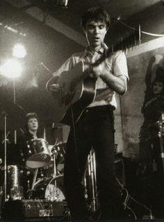 Talking Heads at CBGBs, photo Godlis 1977