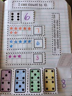 The Therapeutic Teacher: Kinder Interactive Math Journals Preschool Curriculum, Preschool Math, Teaching Math, Math Activities, Math Math, Math Games, Homeschool, Math Fractions, Math Resources