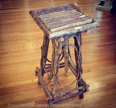 Branch out into rustic decor - yew could definitely spruce up your home with this twig table! https://www.instagram.com/p/BGsRDYyxfwu/#utm_sguid=126328,b114e5e6-c7d0-9e50-e500-5a8ad887f8dc