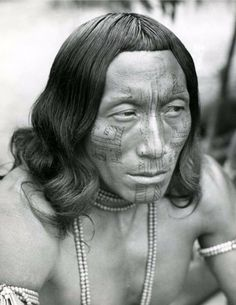 Amazon   Wayana Indian photographed during an Initiation ceremony.  Near Yanamale village, located on the River, near the Maroni tributary.   © Dominique Darbois; taken during her 1951 - 1952 Guyane - Tumuc - Hurmac Expedition