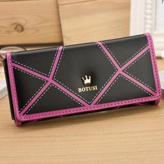 2016 New Arrival luxury womens wallets and purses PU leather Long Wallets Women Clutch Purse For Lady Wallets #EY