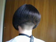 Short Bob Cuts, Short Hair Cuts, Short Hair Styles, Shaved Bob, Shaved Nape, Mushroom Hair, Crop Haircut, Stacked Bob Hairstyles, Girls Short Haircuts