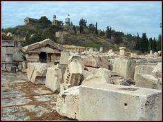 Eleusis - the outer court. Someday, I will walk the Sacred Way in the fall.