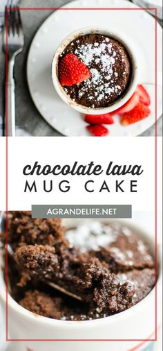 This microwave chocolate lava mug cake is rich fudgy and ready in under five minutes! Just like your favorite molten chocolate lava cake but made in a mug! Microwave Lava Cake, Microwave Chocolate Mug Cake, Chocolate Mug Cakes, Microwave Recipes, Chocolate Chips, Molten Chocolate, Chocolate Lava Cake In A Mug Recipe, Chocolate Cream, Chocolate Desserts