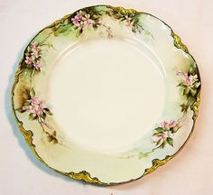Gilt edged, hand painted Haviland plate - love!