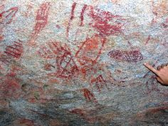 Pictographs at the Sweeney Granite Mountains Desert Research Center.