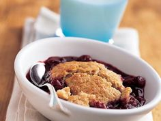 """In this cobbler, whole-wheat flour does double duty. We've used it as the basis of a truly tender """"cobbled"""" topping and as a thickener..."""