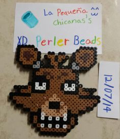 Foxy perler beads by LaPequenaChicana on DeviantArt Hama fnaf