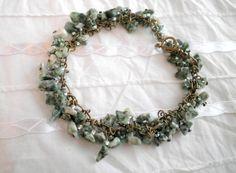 Agate Chips Bronze Bracelet from juta ehted - my jewelry shop by DaWanda.com