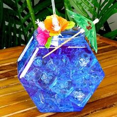 Plastic Hexagonal Cocktail Fish Bowl 30oz - Hexagon Shaped Cocktail Sharer: Amazon.co.uk: Kitchen & Home