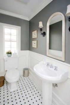 An accumulation gorgeous master bathroom interior planning and home decor pins. I really hope this board inspires you to definitely make your dream master bathroom. Bathroom Chair, Half Bathroom Decor, Bathroom Flooring, Bathroom Interior, Master Bathroom, Bathroom Ideas, Bathroom Wainscotting, Condo Bathroom, Wainscoting Height