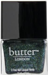 Jack The Lad Nail Lacquer  Opaque, moss green shimmer with gold, turquoise, and green microglitter.