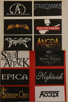 """Handmade Band Stickers From Thrash, Speed Power Metal, Death Metal Music Categories 2.8""""x5.5"""" OR 4.2""""x4.2"""" Buy 2 Get 1 Free"""