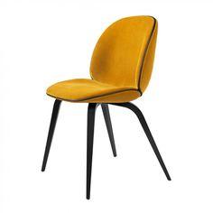 Beetle Dining Chair Wood Base Helklädd Matstol | Gubi | Länna Möbler | Handla online Beetles, Dining Chairs, Base, Wood, Inspiration, Furniture, Home Decor, Biblical Inspiration, Decoration Home