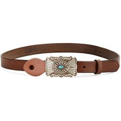 Polo Ralph Lauren Women's Stone Buckle Leather Belt ($221) ❤ liked on Polyvore featuring accessories, belts, brown, waist cincher belt, polo ralph lauren belt, brown cinch belt, brown leather belt and brown belt