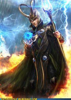 Awesome Fan Art Portraits For Tom Hiddleston's Loki & Chris Hemsworth's Thor Loki Thor, Loki Laufeyson, Loki Art, Loki Avengers, Loki Marvel, Marvel Heroes, Avengers Humor, Avengers Team, Avengers 2012