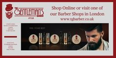 Check out our online store to see our full selection of #hair care products from #TGB http://wu.to/G8gyUT #London #BarberShop