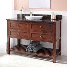 "48"" Taren Bamboo Vanity For Semi-Recessed Sink - Light Espresso - Bamboo Vanities - Bathroom Vanities - Bathroom"