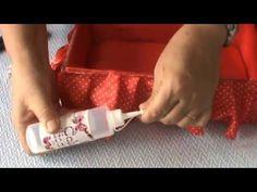 Artesanato com caixa de sapato: Cama baú para Barbie ou porta treco - YouTube Baby Alive, Tissue Boxes, Diy Tutorial, Dollhouse Miniatures, Plastic Cutting Board, Sewing, How To Make, Monster High, American Girl