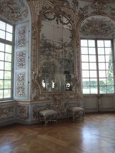 "Amalienburg I by Anellstock on deviantART. Photographer's Note: ""Location: Amalienburg (one of the little castles in the gardens of Nymphenburg Palace); Munich, Germany Era: A Rococo hunting lodge """