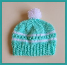 Amanda Baby Hat Knitting Pattern - Marianna's lazy daisy days #knit