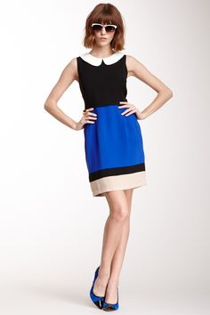 C. Luce- Tiered Colorblock Dress (45)