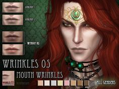 Sims 4 CC's - The Best: Mouth wrinkles by RemusSims