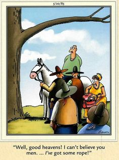 The far side by Gary Larson Cartoon Jokes, Funny Cartoons, Gary Larson Cartoons, Far Side Cartoons, Man And Wife, The Far Side, Good Humor, Fun Comics, Comic Strips