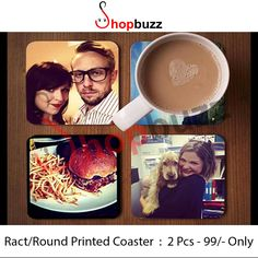 Customized Coasters Printed Coaster Wooden With Ply Sublimation Print Set Of - 2/4/6 Tax And Shipping Extra