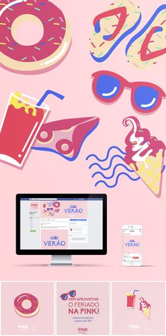 Pink Velvet Verão ~ Social Media Layout, Map, Design Projects, Page Layout, Location Map, Maps
