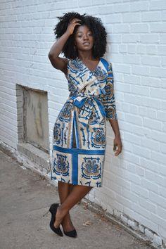 Robe africaine, robe africaine, un bras, une épaule, African clothing africaine, publicité, la mode féminine africaine, fait main, The Wrap Dress