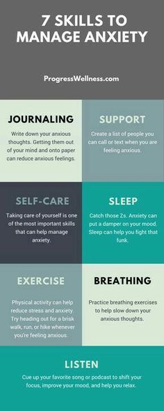 7 skills to manage anxiety