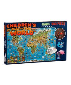 Another great find on #zulily! Illustrated World Jigsaw Puzzle #zulilyfinds