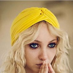 NWT Yellow Fashion Beanie Hat Boho Turban Boho chic hair accessory, hat, beanie. Yellow. Hot new trend! Brand new with tags. Anthropologie brandy Melville free people haute hippie urban outfitters Asos UNIF Free People Accessories Hair Accessories