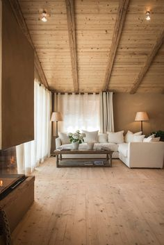 View the full picture gallery of San Luis - Private Retreat Hotel & Lodges Chalet Interior, Home Interior Design, Casa Loft, Cabin Interiors, Wooden House, Cabin Homes, House In The Woods, My Dream Home, Living Spaces