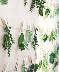 Botanical #backdrop, loving this greenery wall! // InHonorOfDesign.com- #FloralDesign