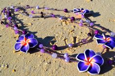 A Piece of Hawaii Plumeria Triple Strand by uniquebeadingbyme