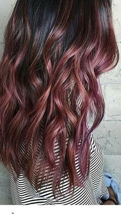 Image result for brunette rose gold ombre