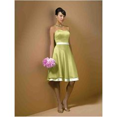 Green And White Bridesmaid Dresses