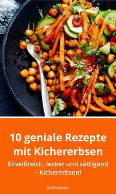 10 geniale Rezepte mit Kichererbsen 10 brilliant recipes with chickpeas Easy Healthy Recipes, Healthy Dinner Recipes, Vegetarian Recipes, Easy Meals, Healthy Lunches, Work Lunches, Clean Recipes, Diet Recipes, Dinner With Ground Beef