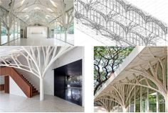 Tree Structure, Steel Trusses, Skylights, Small Office, Hostel, Restaurant Bar, Landscape Architecture, Restaurants, Stairs