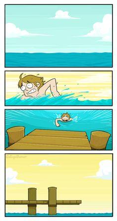 Bear tossing a shark! Cool gif comic