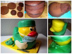 How to make a rubber ducky cake / Tutorial Quietscheenten-Torte