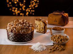 #Panettone #Fiasconaro, dolce artigianale da forno con uvetta ricoperto di glassa e nocciole, incarto a mano.  #Natale 2015.