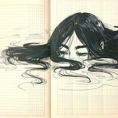 Aoki Tetsuo drawing