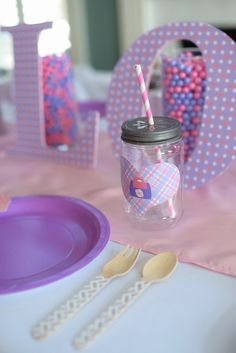 Set of 10 Doc McStuffins Inspired Mason Jar Labels by SweetlyChicEvents on Etsy https://www.etsy.com/listing/185106274/set-of-10-doc-mcstuffins-inspired-mason