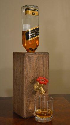 Wood Liquor Dispenser/Decanter by NomadWoodworkingShop on Etsy: