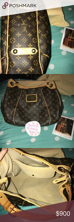 Authentic LV Galliera PM Very good condition. A few pen marks inside. Over all very clean. Comes with dust bag and original receipt. Louis Vuitton Bags Shoulder Bags